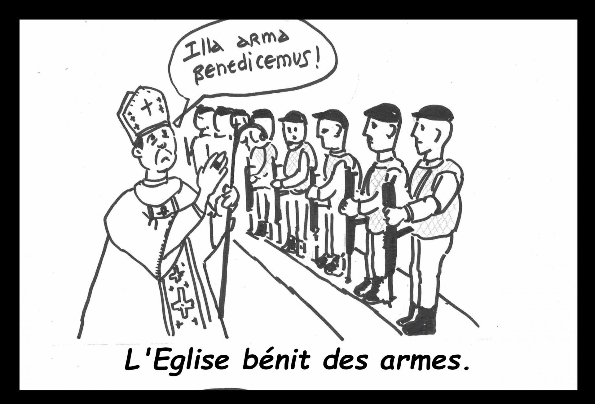 Benediction armes entourees