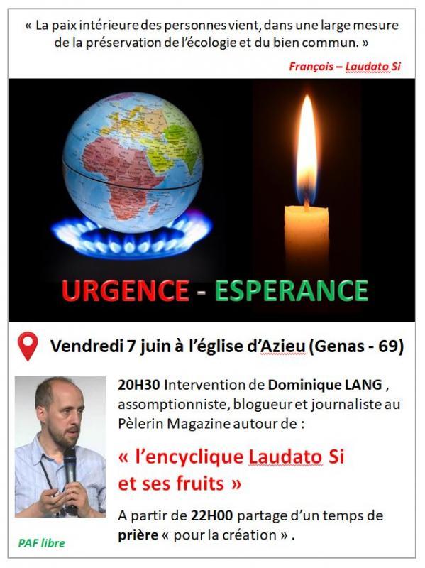 Urgence et esperance